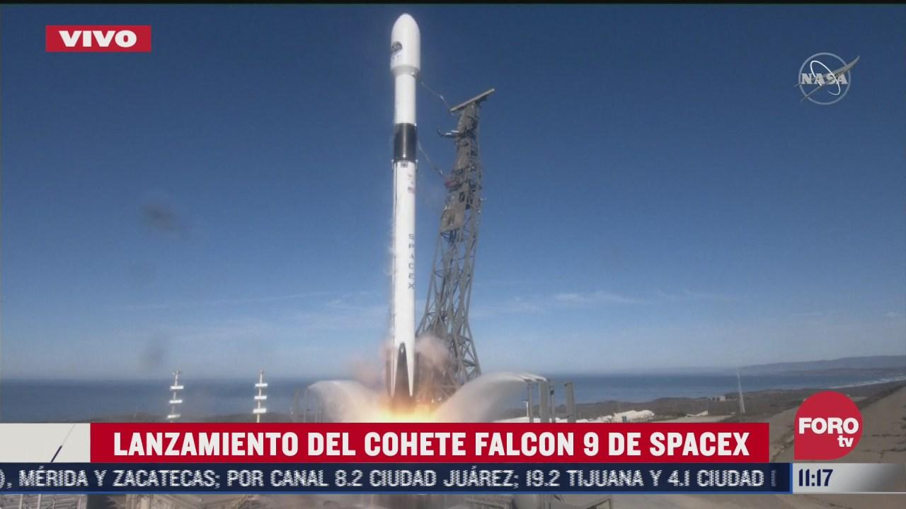 lanzamiento del cohete falcon 9 de spacex
