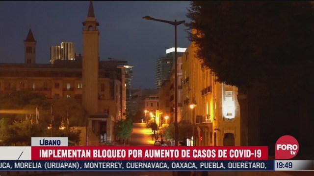 libano implementa toque de queda por covid