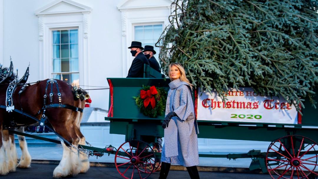 Melania Trump presenta el árbol de Navidad de la Casa Blanca 2020