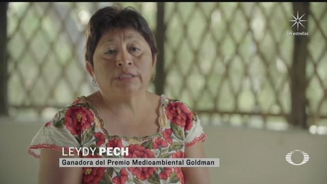 mexicana recibe el premio goldman apodado el nobel del medio ambiente