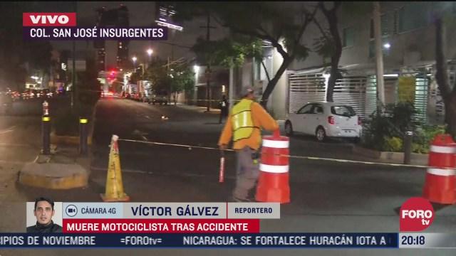 muere joven motociclista tras accidente en cdmx