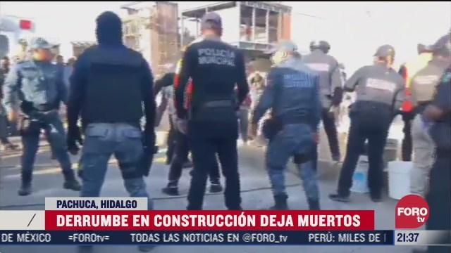 mueren tres personas tras derrumbe en construccion en pachuca