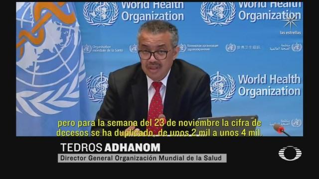 oms alarmada por creciente aumento de casos de covid 19 en mexico