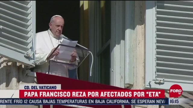 papa francisco pide por victimas del huracan eta
