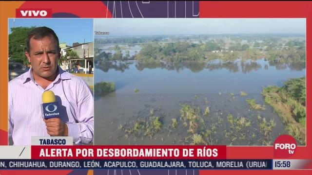 pobladores de tabasco se mudan a carreteras por inundaciones
