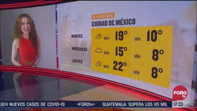 pronostico del clima con mayte carranco del 16 de noviembre