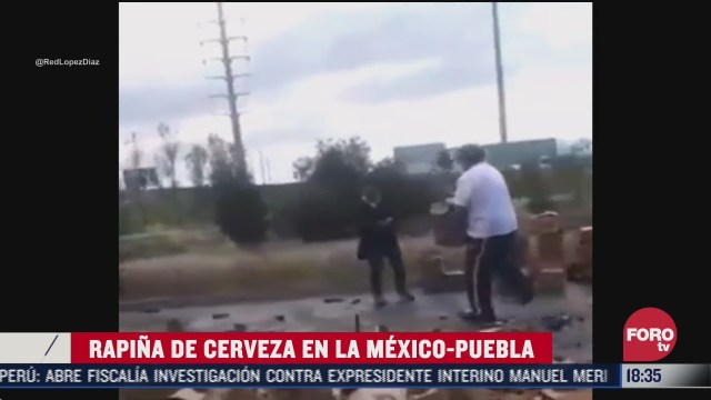 rapina de cerveza en la mexico puebla