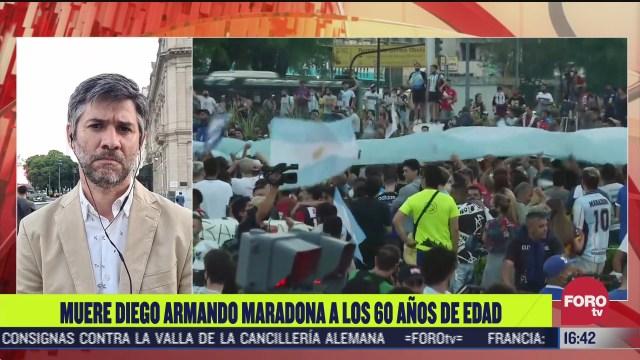 reaccion a la muerte de maradona en buenos aires argentina