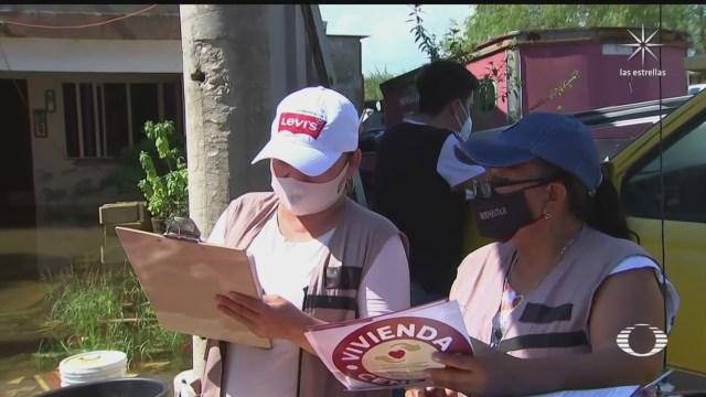 realizan censo de danos en viviendas afectadas por inundaciones en tabasco