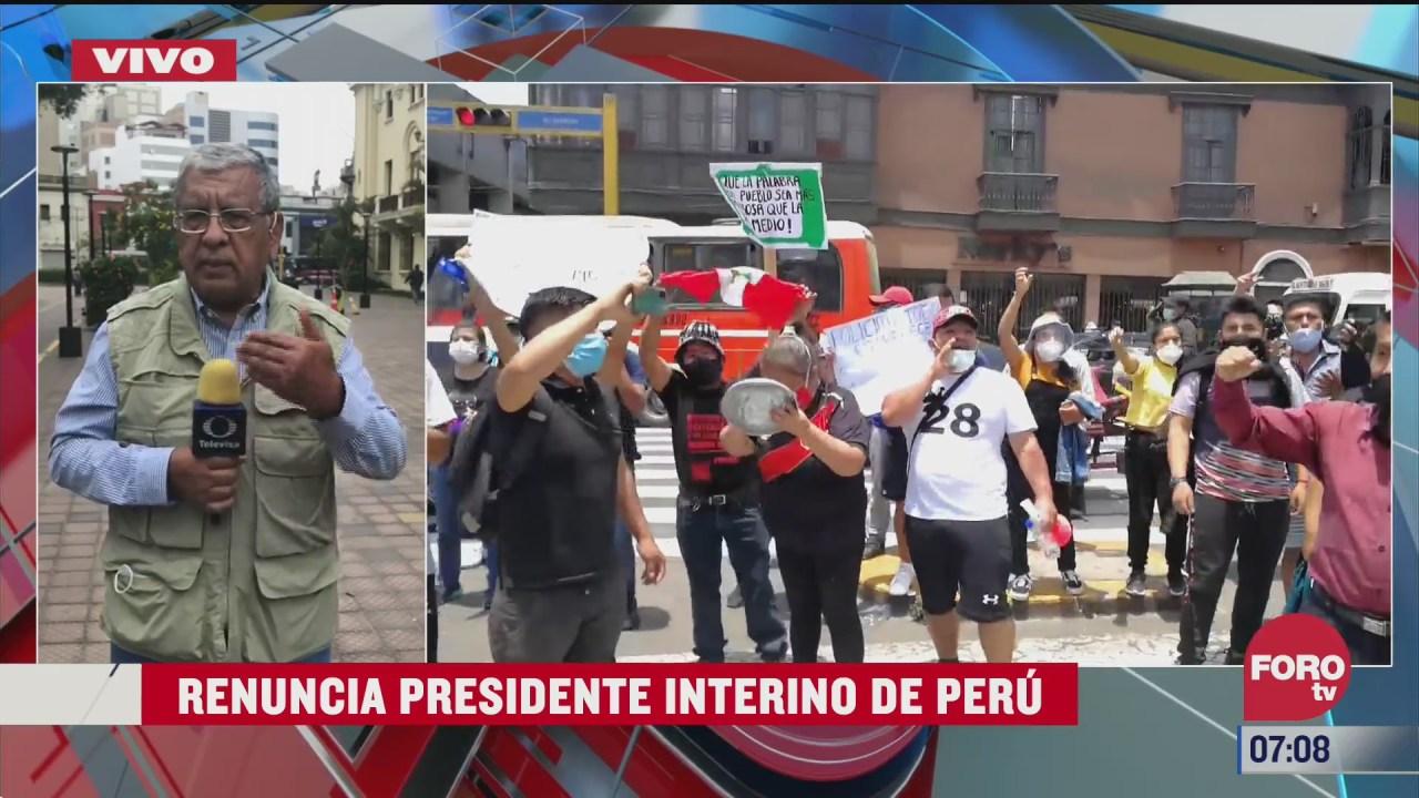 renuncia presidente interino de peru