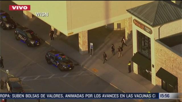 reportan tiroteo en centro comercial de wisconsin