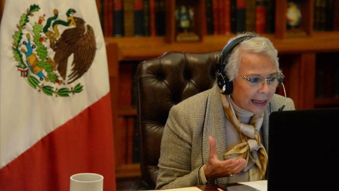 La secretaria de Gobernación, Olga Sánchez Cordero, clausuró la Semana Nacional de la Transparencia