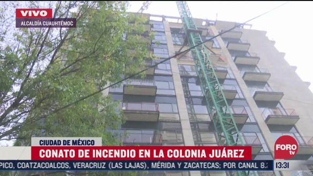 se registra conato de incendio en edificio en construccion en colonia juarez
