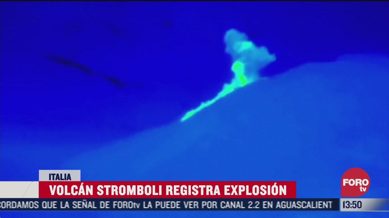 se registra explosion de volcan stromboli en italia