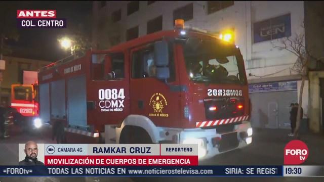 se registra falsa alarma de incendio en el centro historico
