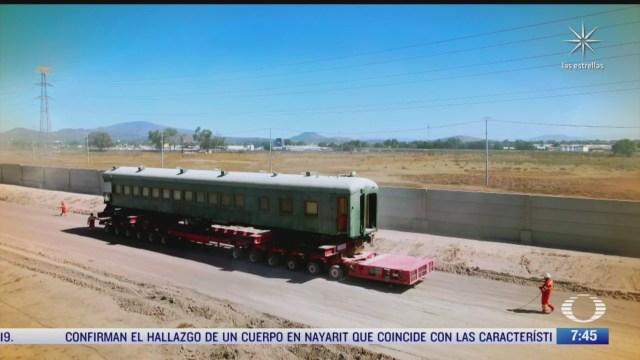 sedena restaurara vagones de tren del siglo pasado