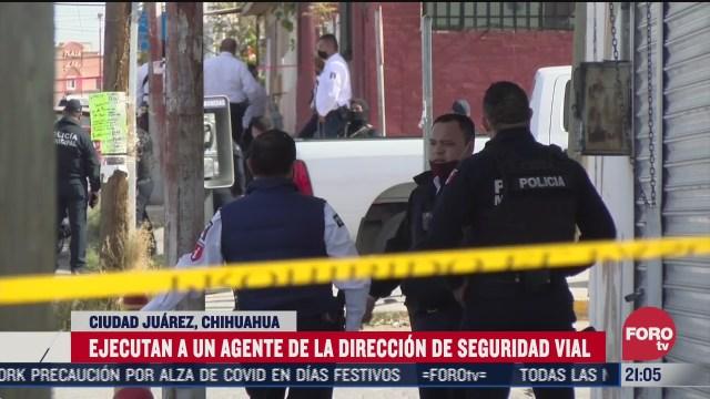 sicarios emboscan y matan a agente vial en chihuahua