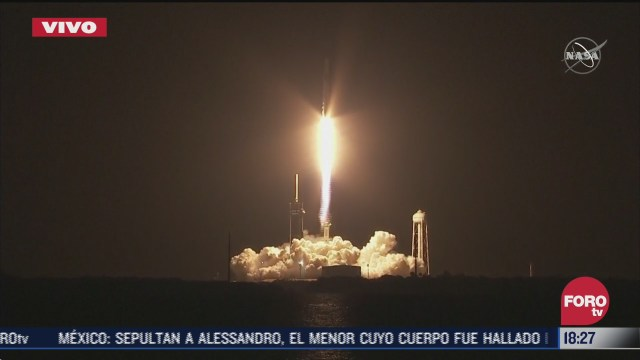 spacex y la nasa lanzan exitosamente cohete al espacio
