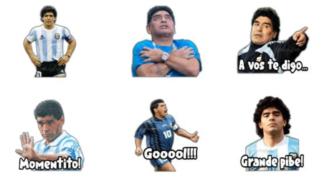 Descarga gratis los stickers de Maradona para WhatsApp