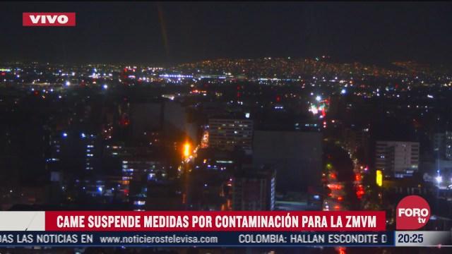 suspenden medidas por contaminacion ambiental en valle de mexico