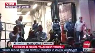 trasladan a hombre prensado en las vias del metro villa de cortes