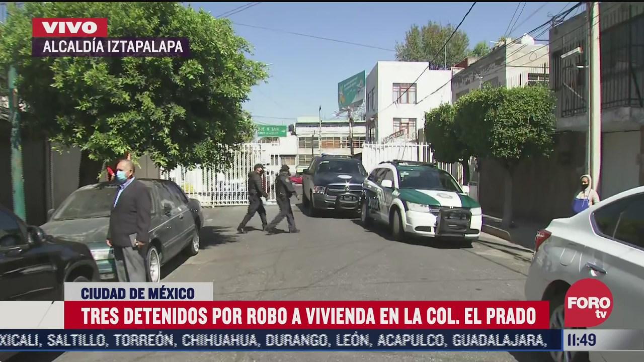 tres detenidos por robo de casa en alcaldia tlalpan cdmx