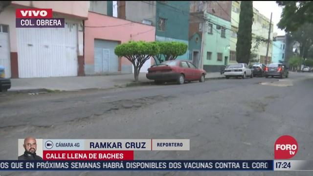 vecinos denuncian baches en la colonia obrera