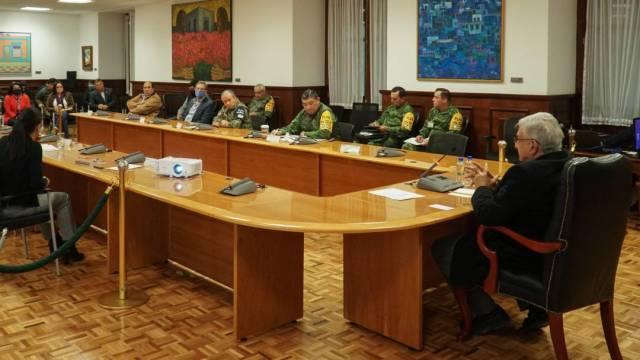 El presidente López Obrador evaluó la ampliación hospitalaria en la CDMX por COVID-19