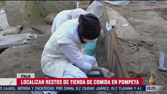 arqueologos localizan tienda de comida callejera enterrada tras erupcion del vesubio