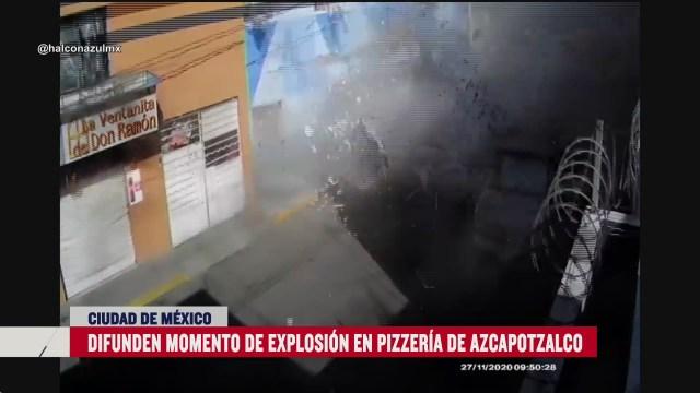 asi se vio en video el preciso instante de la explosion en pizzeria de azcapotzalco