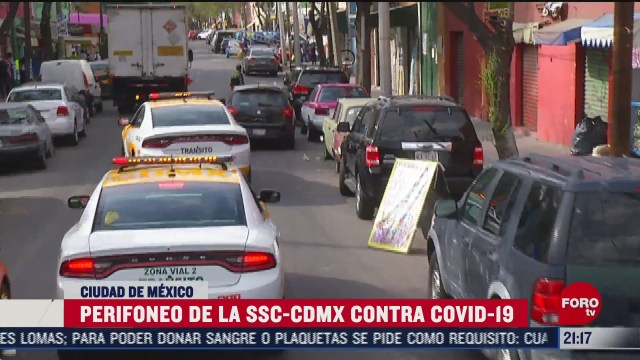 autoridades de la cdmx realizan perifoneo en colonias de alto riesgo por covid