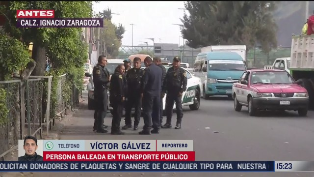 balean a pasajero de transporte publico durante asalto