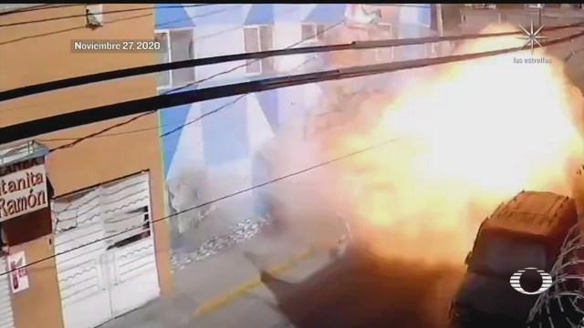 camaras captan el momento de la explosion en pizzeria de azcapotzalco