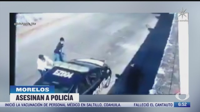 captan momento del asesinato de policia de transito en morelos