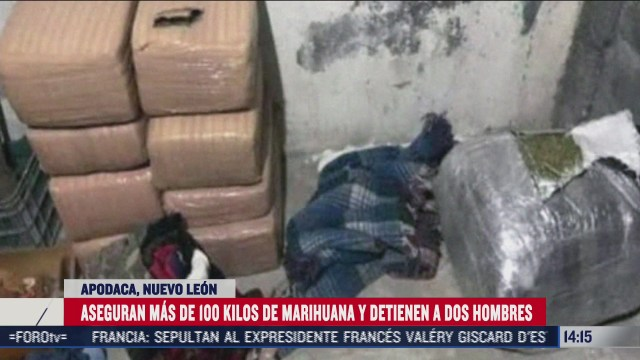 confiscan 100 kilos de mariguana en nuevo leon