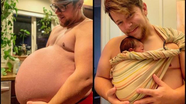 Danny Wakefield, un hombre trans, dio a luz en su casa y quiso compartir el momento con un sus redes sociales