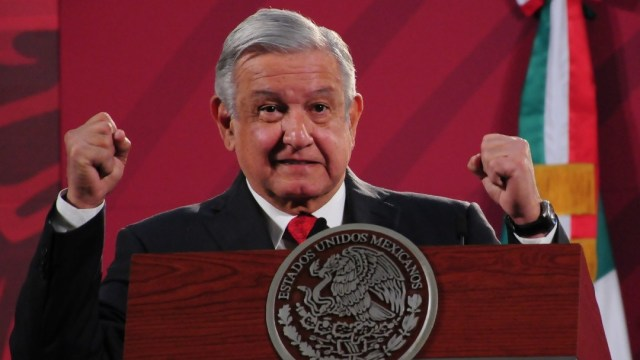 El presidente de México, Andrés Manuel López Obrador, en conferencia matutina