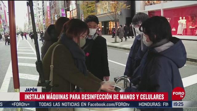 en japon instalaron maquinas para sanitizar celulares