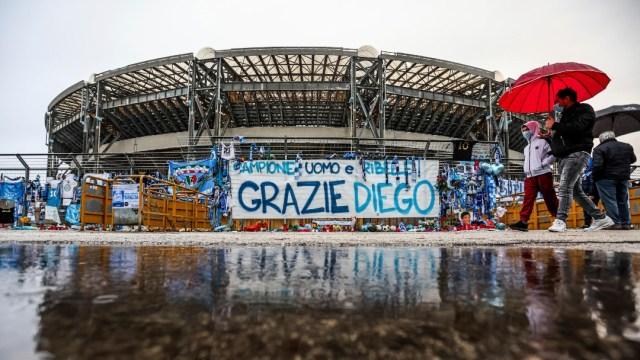 Estadio del Nápoles en Italia