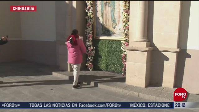 fieles festejan en solitario a la virgen en ciudad juarez