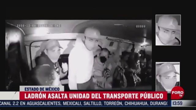 graban asalto a unidad de transporte publico en nezahualcoyotl edomex