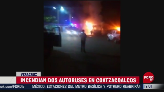 grupos delictivos incendian autobuses en coatzacoalcos