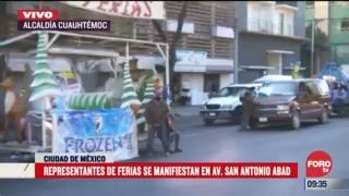 manifestantes bloquean avenida san antonio abad cdmx