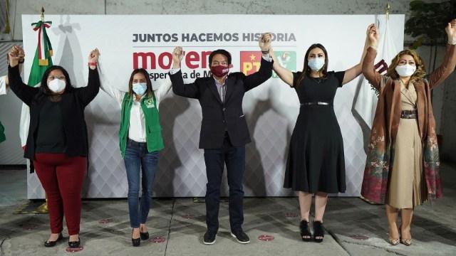 Morena anuncia alianza on PT y PVEM para los próximos comicios.
