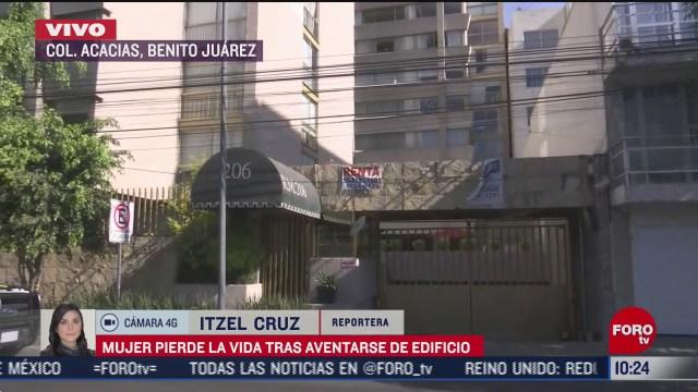 muere mujer tras aventarse de edificio en la alcaldia benito juarez cdmx