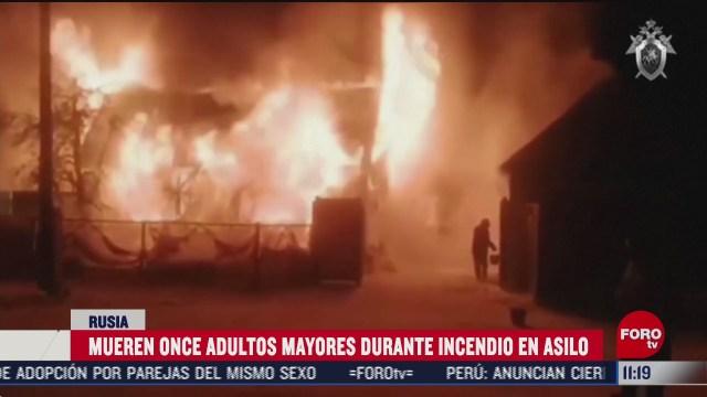 mueren 11 adultos mayores durante incendio en asilo