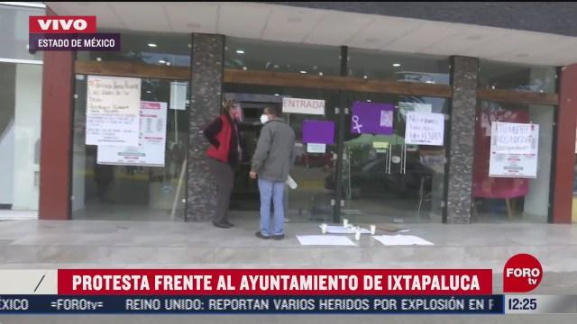 protestan frente a ayuntamiento de ixtapalupa por feminicidio