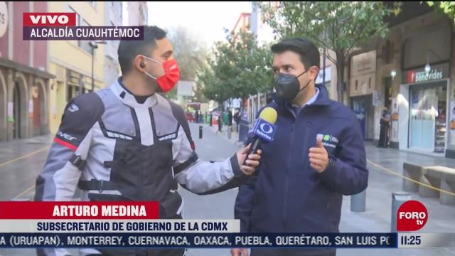 refuerzan medidas sanitarias en calles del centro historico en cdmx
