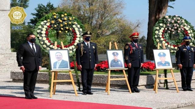 Rinden homenaje a policías de la SSC CDMX caídos en 2020