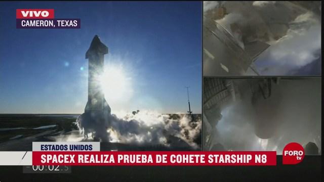space x realiza prueba de mega cohete starship